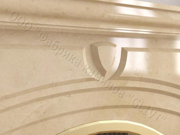 Мраморный камин с открытой топкой Ланже, каталог (интернет-магазин) каминов из мрамора, изображение, фото 4