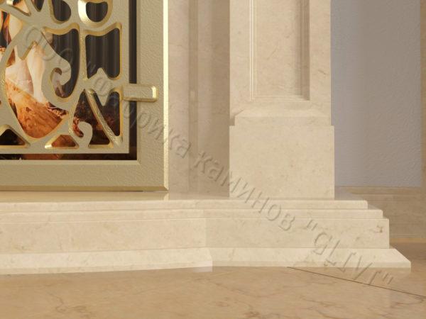 Мраморный камин с открытой топкой Ланже, каталог (интернет-магазин) каминов из мрамора, изображение, фото 5