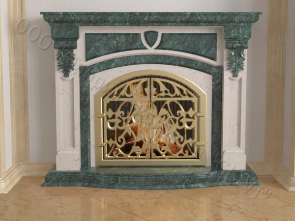 Мраморный камин с открытой топкой Ланже, каталог (интернет-магазин) каминов из мрамора, изображение, фото 7