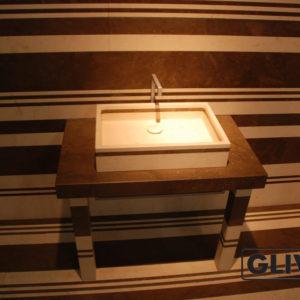 Мраморная раковина (умывальник) Лека, каталог раковин из камня, изображение, фото 1