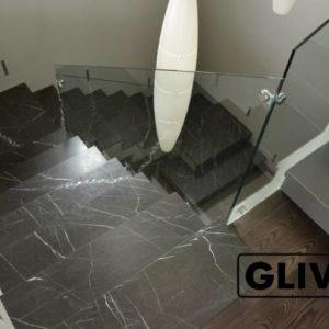 Лестница из натурального мрамора Ида, интернет-магазин лестниц, изображение, фото 1