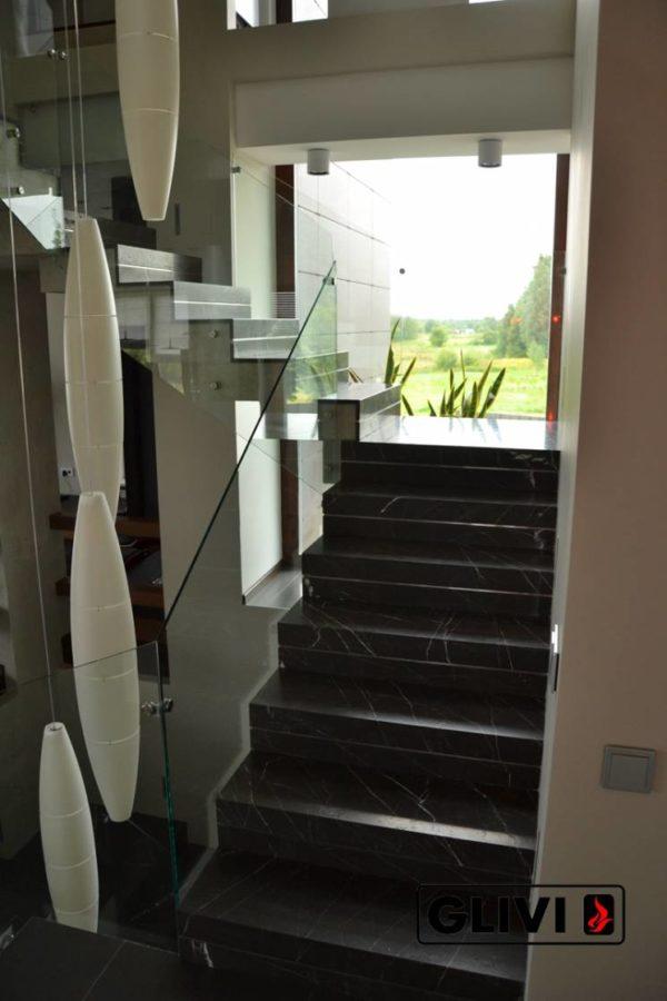Лестница из натурального мрамора Ида, интернет-магазин лестниц, изображение, фото 10