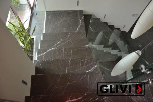 Лестница из натурального мрамора Ида, интернет-магазин лестниц, изображение, фото 4