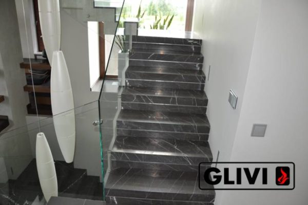 Лестница из натурального мрамора Ида, интернет-магазин лестниц, изображение, фото 9