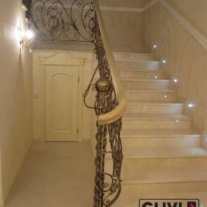 Лестница из натурального мрамора Реджина, интернет-магазин лестниц, изображение, фото 1