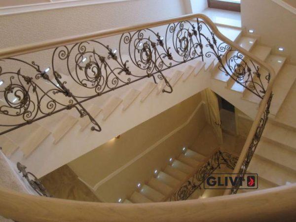 Лестница из натурального мрамора Реджина, интернет-магазин лестниц, изображение, фото 3