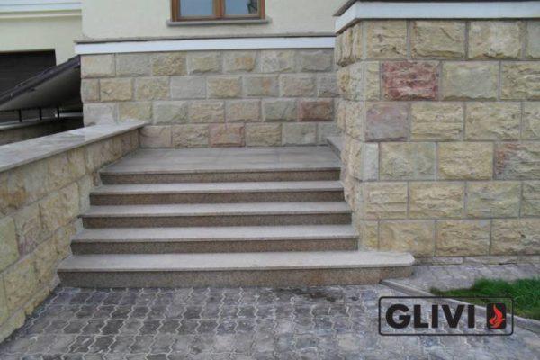 Гранитная лестница Сандра, каталог лестниц из камня, изображение, фото 1