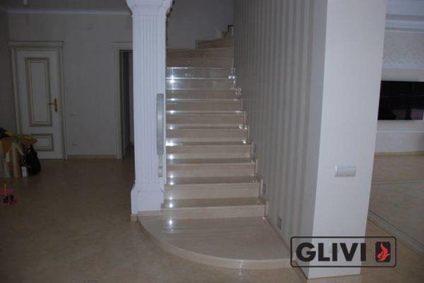 Лестница из натурального мрамора Рози, интернет-магазин лестниц, изображение, фото 1