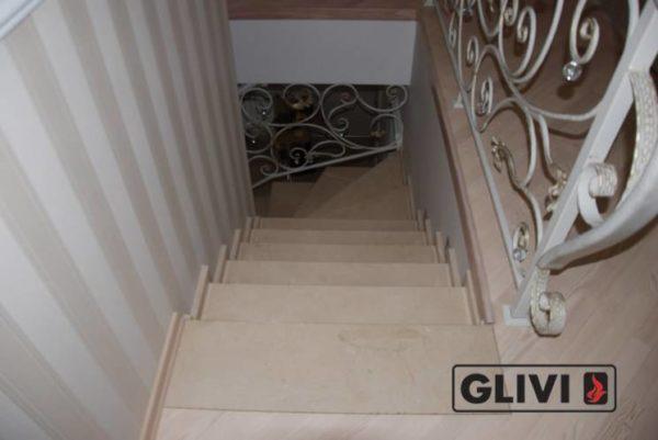 Лестница из натурального мрамора Рози, интернет-магазин лестниц, изображение, фото 3