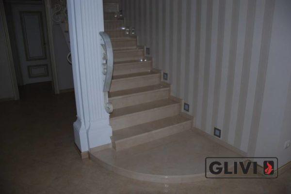 Лестница из натурального мрамора Рози, интернет-магазин лестниц, изображение, фото 4