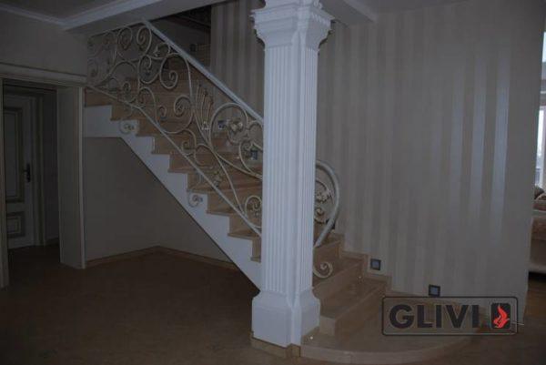 Лестница из натурального мрамора Рози, интернет-магазин лестниц, изображение, фото 5