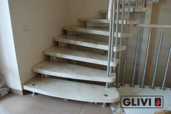Лестница из мрамора Одри 2, каталог лестниц из камня, изображение, фото 1