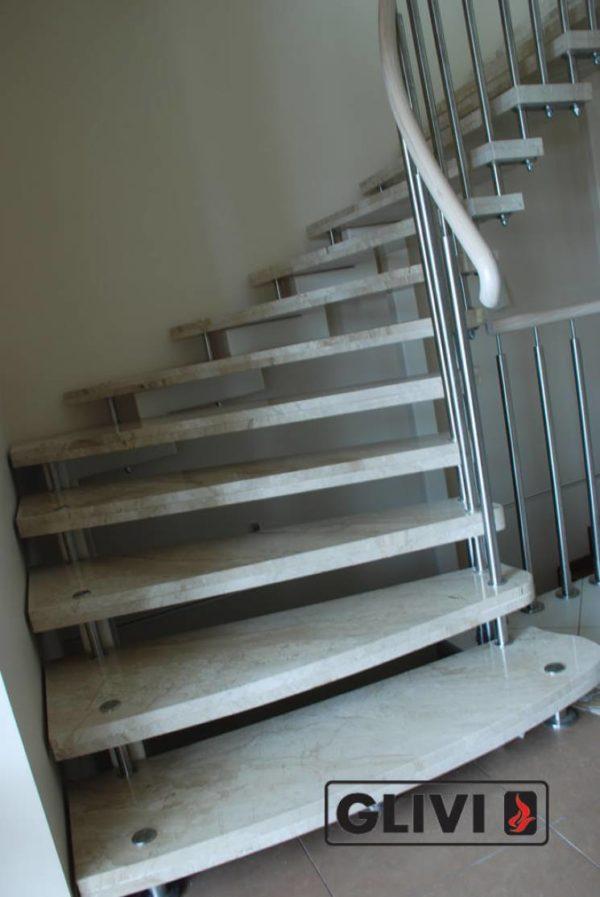 Лестница из натурального мрамора Одри 2, интернет-магазин лестниц, изображение, фото 2