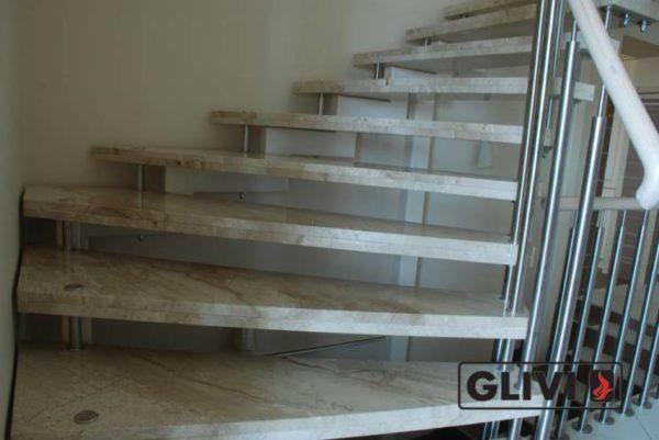 Лестница из натурального мрамора Одри 2, интернет-магазин лестниц, изображение, фото 3