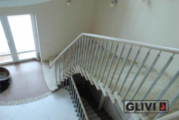 Лестница из натурального мрамора Одри 2, интернет-магазин лестниц, изображение, фото 4