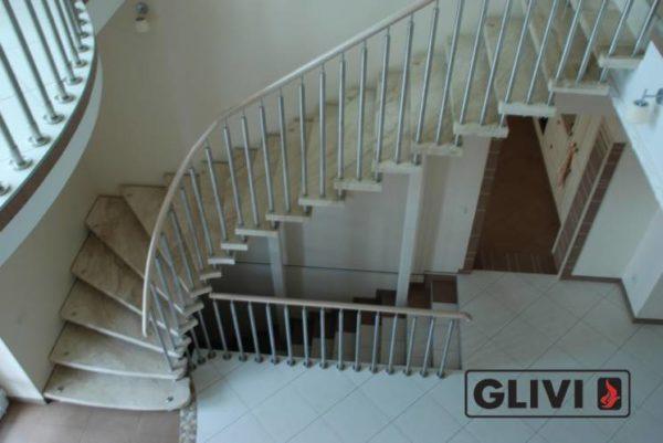 Лестница из натурального мрамора Одри 2, интернет-магазин лестниц, изображение, фото 5