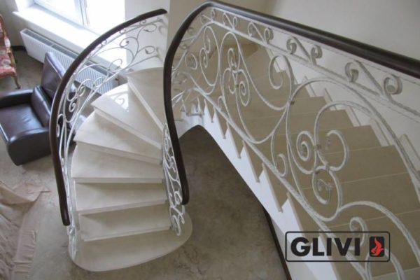 Лестница из мрамора Ева, каталог лестниц из камня, изображение, фото 1