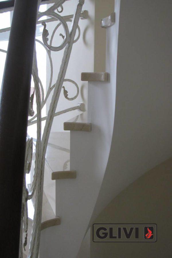 Лестница из мрамора Ева, каталог лестниц из камня, изображение, фото 7