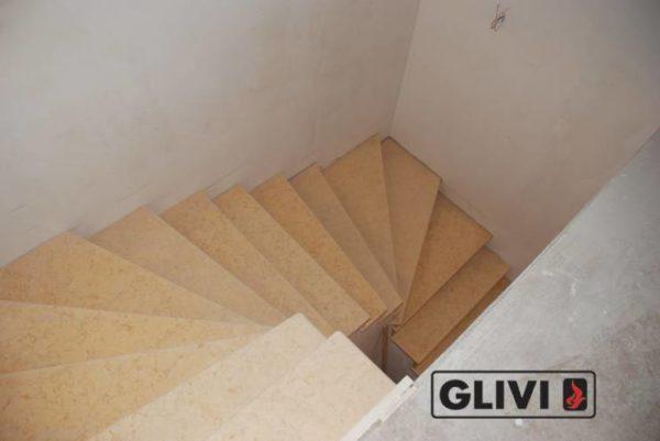 Лестница из натурального мрамора Глория, интернет-магазин лестниц, изображение, фото 2