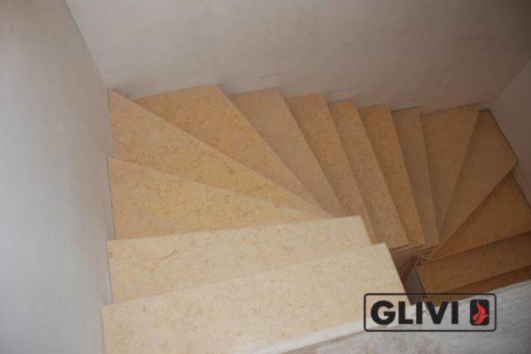 Лестница из натурального мрамора Глория, интернет-магазин лестниц, изображение, фото 3