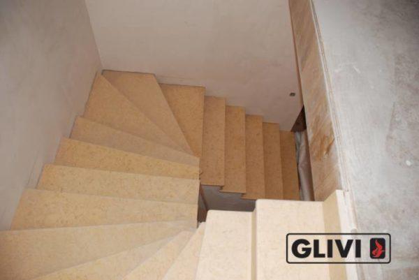 Лестница из натурального мрамора Глория, интернет-магазин лестниц, изображение, фото 4