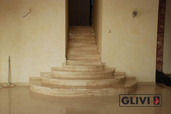 Лестница из натурального мрамора Моника, интернет-магазин лестниц, изображение, фото 2