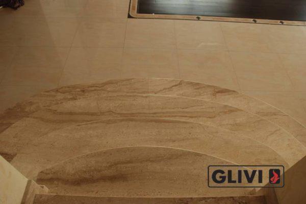 Лестница из натурального мрамора Моника, интернет-магазин лестниц, изображение, фото 3