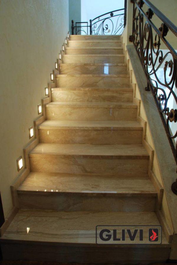 Лестница из натурального мрамора Моника, интернет-магазин лестниц, изображение, фото 4