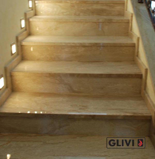 Лестница из натурального мрамора Моника, интернет-магазин лестниц, изображение, фото 5