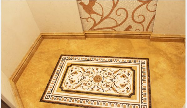 Мозаичный пол из натурального мрамора Лета, интернет-магазин полов, изображение, фото 1