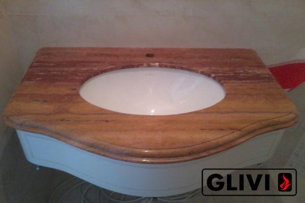 Столешница из натурального камня (мрамора) Линдос, изготовить на заказ, изображение, фото 2