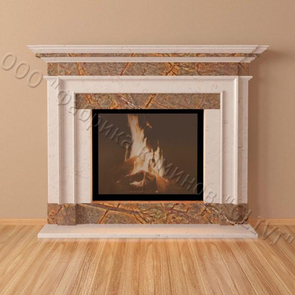 Мраморный каминный портал (облицовка) Лондон, каталог (интернет-магазин) каминов из мрамора, изображение, фото 3