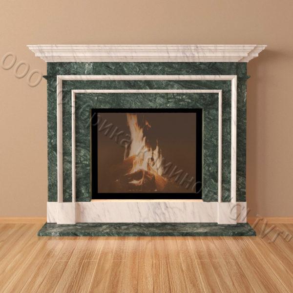 Мраморный каминный портал (облицовка) Лондон, каталог (интернет-магазин) каминов из мрамора, изображение, фото 5