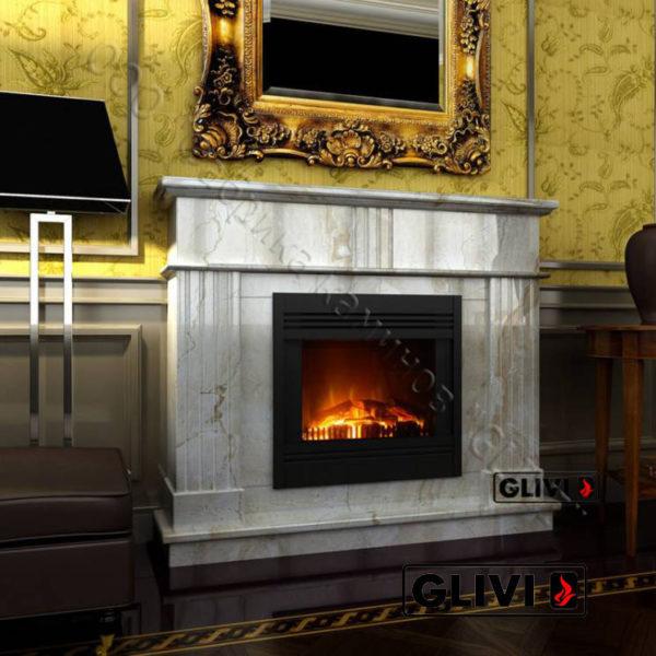 Мраморный каминный портал (облицовка) Лондра, каталог (интернет-магазин) каминов из мрамора, изображение, фото 1