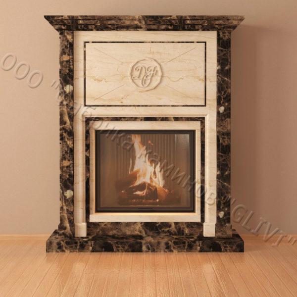 Мраморный каминный портал (облицовка) Любовь, каталог (интернет-магазин) каминов из мрамора, изображение, фото 3