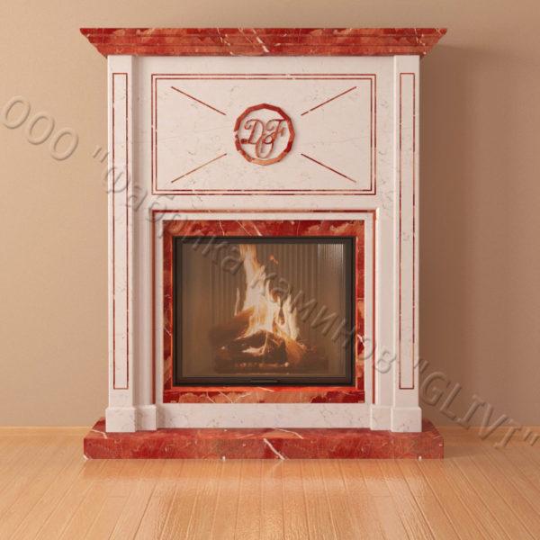 Мраморный каминный портал (облицовка) Любовь, каталог (интернет-магазин) каминов из мрамора, изображение, фото 5