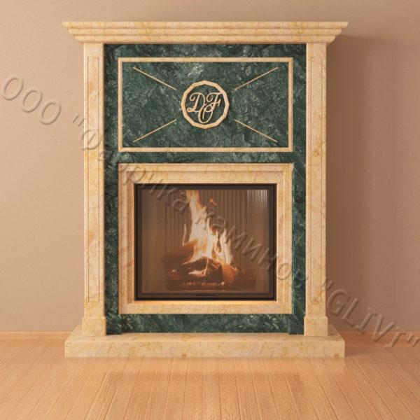 Мраморный каминный портал (облицовка) Любовь, каталог (интернет-магазин) каминов из мрамора, изображение, фото 6
