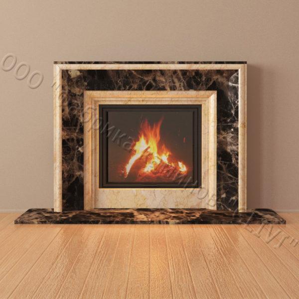 Мраморный каминный портал (облицовка) Люция, каталог (интернет-магазин) каминов из мрамора, изображение, фото 3
