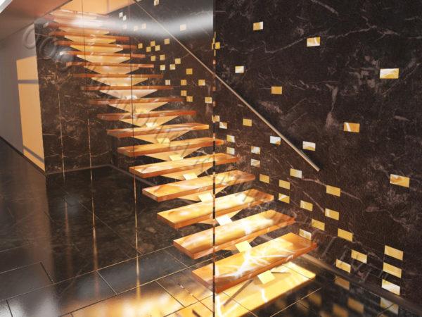 Лестница из оникса Луто, каталог лестниц из камня, изображение, фото 1
