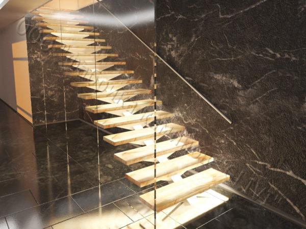 Лестница из оникса Луто, каталог лестниц из камня, изображение, фото 3