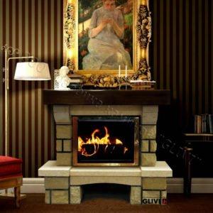 Мраморный каминный портал (облицовка) Мадрид, каталог (интернет-магазин) каминов из мрамора, изображение, фото 1