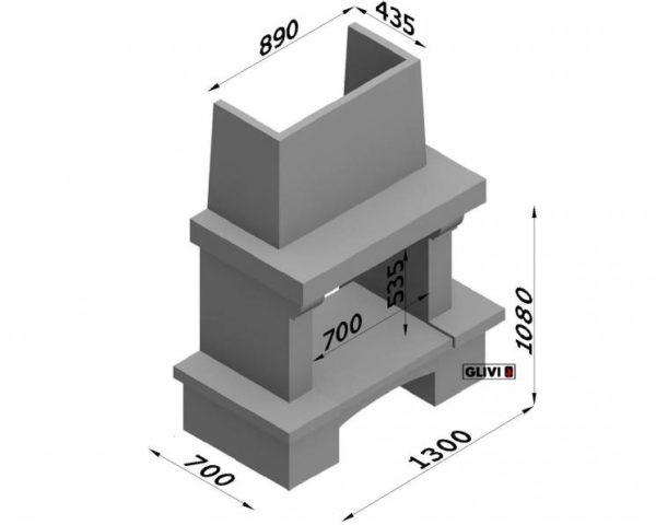 Мраморный каминный портал (облицовка) Мадрид, каталог (интернет-магазин) каминов из мрамора, изображение, фото 2