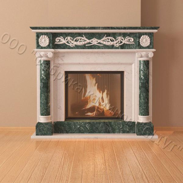 Мраморный каминный портал (облицовка) Малика, каталог (интернет-магазин) каминов из мрамора, изображение, фото 6