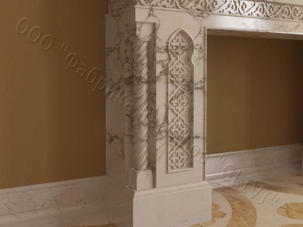 Имитация камина (фальш камин) из камня Мансур, каталог каминов, изображение, фото 7