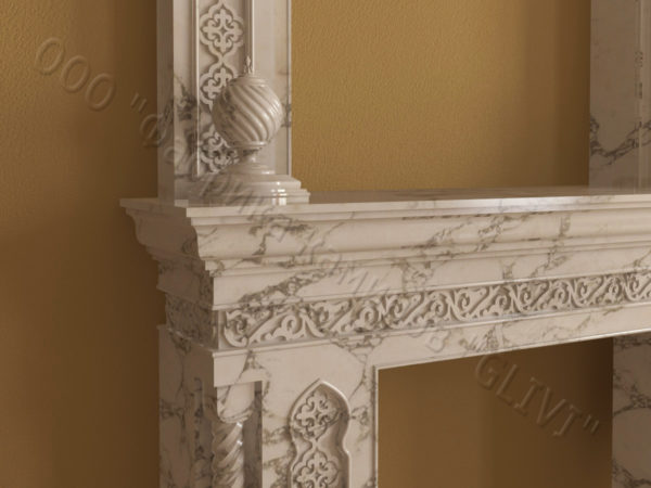 Имитация камина (фальш камин) из камня Мансур, каталог каминов, изображение, фото 6