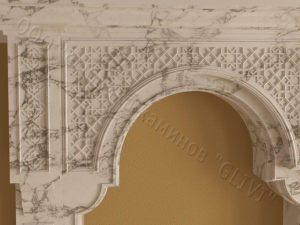 Имитация камина (фальш камин) из камня Мансур, каталог каминов, изображение, фото 5