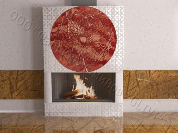 Мраморный каминный портал (облицовка) в восточном (арабском) стиле Марам, каталог (интернет-магазин) каминов из мрамора, изображение, фото 8