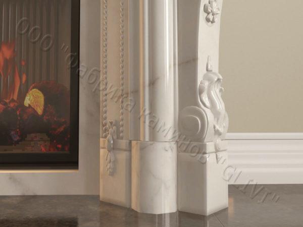 Мраморный камин с открытой топкой Марко, каталог (интернет-магазин) каминов из мрамора, изображение, фото 7