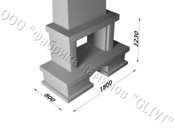 Мраморный каминный портал (облицовка) Марокко с банкеткой, каталог (интернет-магазин) каминов из мрамора, изображение, фото 9