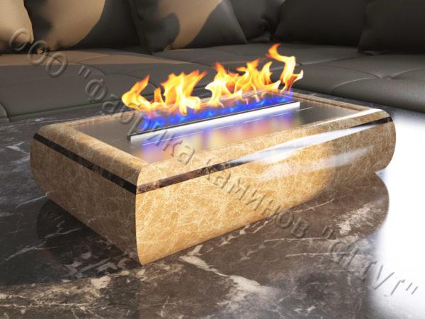 Мраморная облицовка (каминный портал) для камина на биотопливе Марон, каталог (интернет-магазин) каминов из мрамора, изображение, фото 3